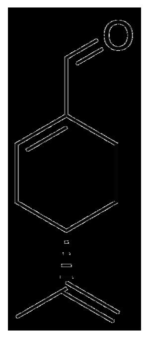 Perillaldehyde - Image: Perillaldehyde chemical structure