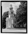 Perspective view, south-southwest - Old South Congregational Church, Main Street, Windsor, Windsor County, VT HABS VT,14-WIND,7-7.tif