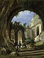 Peter Birmann (1758-1844) Monastery ruins in the moonlight.jpg