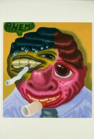 "Peter Saul - ""Ahem"" (2000), 64 x 60 inches, acrylic on canvas"