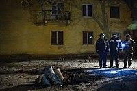 Petro Poroshenko in Kramatorsk after the rocket attack, 10 Feb 2015, 18.jpg
