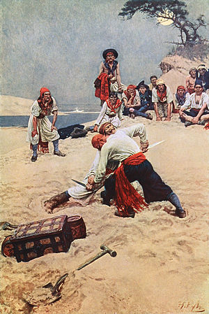 Golden Age of Piracy - Pirates fight in Who Shall Be Captain?  by Howard Pyle