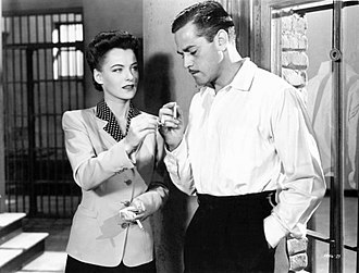 Ella Raines - Raines and Alan Curtis in Phantom Lady (1944)