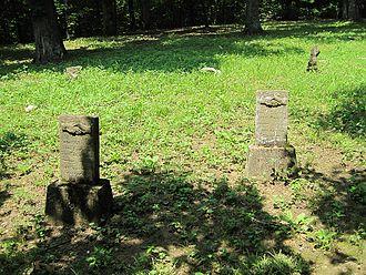 Davidsonville Historic State Park - Headstones in the Phillip-Reeve Cemetery, 2011.