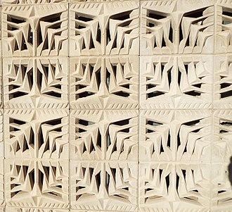Albert Chase McArthur - Stylized bricks by architect, Albert Chase McArthur