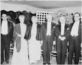 Photograph of President Truman, Mrs. Truman, President Eurico Dutra of Brazil, and other dignitaries, in formal... - NARA - 200126.tif