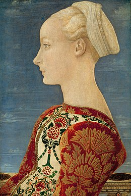 Piero del Pollaiuolo - Profile Portrait of a Young Lady - Gemäldegalerie Berlin - Google Art Project.jpg