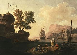 Mediterranean Harbor Scene