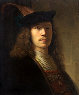 Pieter Verlest - Portrait of a Man in a feathered beret with shaded eyes 459606 L 1