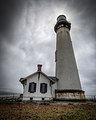 Pigeon Point Lighthouse on the California Coast. Overcast Day..jpg