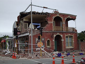 History of Canterbury, New Zealand - A store damaged in the February 2011 earthquake.