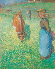 Bondekone med ko, Osny