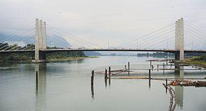 Pitt River Bridge - Image: Pitt River Bridge 2016