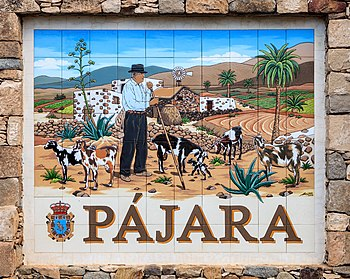 Place-name sign in the town of Pájara