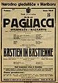 Plakat za predstavi Pagliacci in Bastien in Bastienne v Narodnem gledališču v Mariboru 2. novembra 1926.jpg