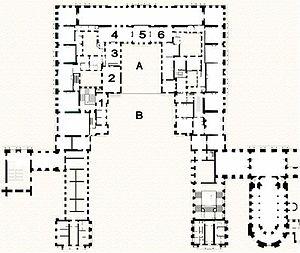 Appartement du roi - Image: Plan de l'Appartement du roi