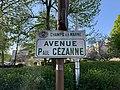 Plaque Avenue Paul Cézanne - Champs-sur-Marne (FR77) - 2021-04-24 - 2.jpg