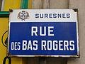 Plaque de la rue des bas rogers de w fr Suresnes Suresnes.jpg