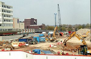 Intu Derby - Construction work on the site in 2005