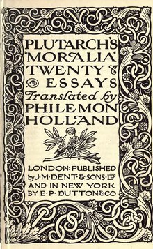 Plutarch - Moralia, translator Holland, 1911.djvu