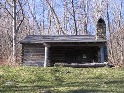 The Pocosin cabin along the trail in Shenandoah National Park