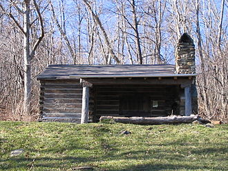 Backpacking (wilderness) - The Pocosin cabin along the Appalachian trail in Shenandoah National Park