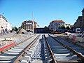 Podbabská, výstavba tramvajové trati, stará smyčka zdola.jpg