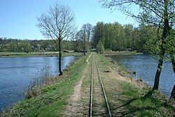 Poland - Topilo Lake with dam.JPG