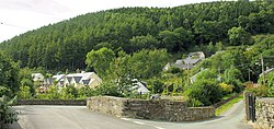 Pont Wnion and the centre of Llanelltyd village - geograph.org.uk - 536122.jpg