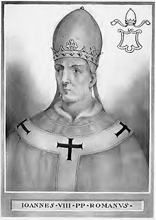 Pope John VIII pope of catholic church from 872 until 882