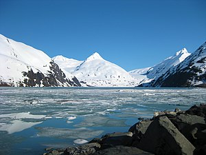 Portage Lake (Alaska) - Portage Lake, as seen from the Western edge near the Begich Boggs Visitor Center