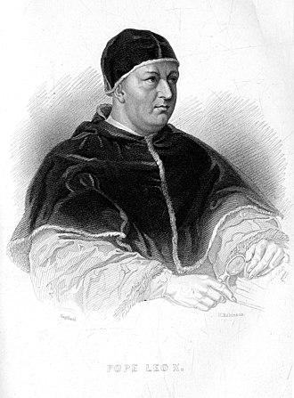 Pope Leo X - Portrait of Pope Leo X (1846)