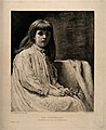 Portrait of a convalescing girl. Reproduction of a painting Wellcome V0015156.jpg