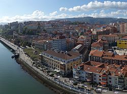 Portugalete from Vizcaya Bridge