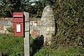 Postbox and gatepost, Wainsford Road, Pennington - geograph.org.uk - 253116.jpg