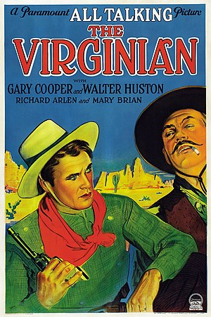 The Virginian (1929 film) - Theatrical release poster