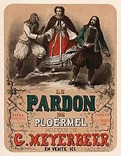Poster for the premiere of Le pardon de Ploërmel (Dinorah) (Source: Wikimedia)