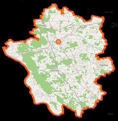 Mapa lokalizacyjna powiatu garwolińskiego
