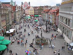 Eastern part of the Main Square in the Poznań Old Town