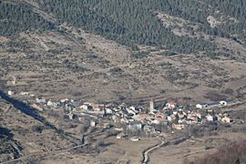Prades seen from above