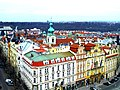 Prag - Blick vom Altstädter Rathausturm über die St. Salvator-Kirche nach Norden - Zobrazit od Starého věže radnice na Sv. Salvátora Kostel severu - panoramio.jpg