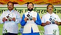 "Prakash Javadekar releasing a ""Harit Kala (Green Art)"", by the Forests Department (Govt. of Maharashtra, at the ""World Environment Day"" celebration, in Mumbai.jpg"