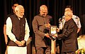Pranab Mukherjee, the President-elect, Shri Ram Nath Kovind and the Prime Minister, Shri Narendra Modi at the release of the Volume 4 of President Pranab Mukherjee's selected speeches, at Rashtrapati Bhavan, in New Delhi (2).jpg