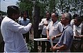 Prasanta Chatterjee And Saroj Ghose Discussing About Science City Project - Meeting Between CMC And NCSM Officers - Science City Site - Dhapa - Calcutta 1993-04-22 0578.JPG