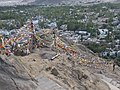 Prayer flags near Tsemo temple, Leh.jpg