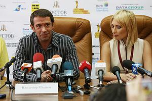 Vladimir Mashkov - Press conference by Vladimir Mashkov actor Film Festival in 2010.