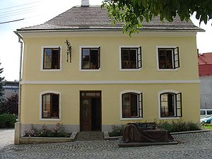 Sigmund Freud - Freud's birthplace, a rented room in a locksmith's house, Freiberg, Austrian Empire, (later Příbor, Czech Republic).