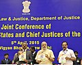 Prime Minister Narendra Modi at the Joint Conference of Chief Ministers of States and Chief Justices of High Courts.jpg
