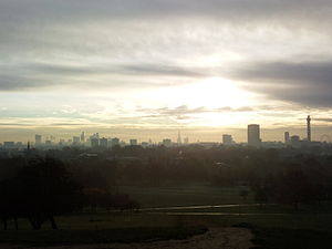 Primrose Hill - Panoramic view of London from Primrose Hill