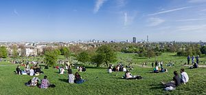 The view from the top of Primrose Hill London